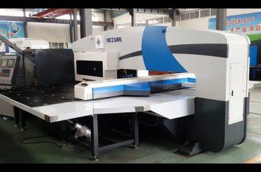 fabricantes da imprensa do perfurador do cnc - prensas de perfurador da torreta - 5 máquinas de perfuração servo do cnc da linha central